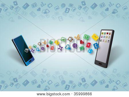 Cellular Smartphones Mobile Data Transfer