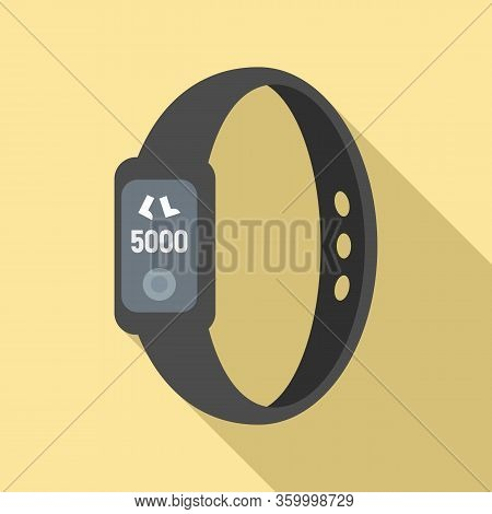 Heart Rate Smartwatch Icon. Flat Illustration Of Heart Rate Smartwatch Vector Icon For Web Design