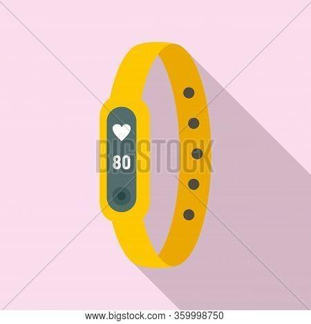 Running Bracelet Icon. Flat Illustration Of Running Bracelet Vector Icon For Web Design