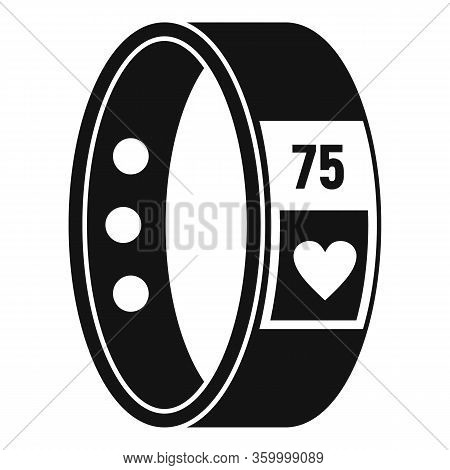 Fitness Bracelet Icon. Simple Illustration Of Fitness Bracelet Vector Icon For Web Design Isolated O