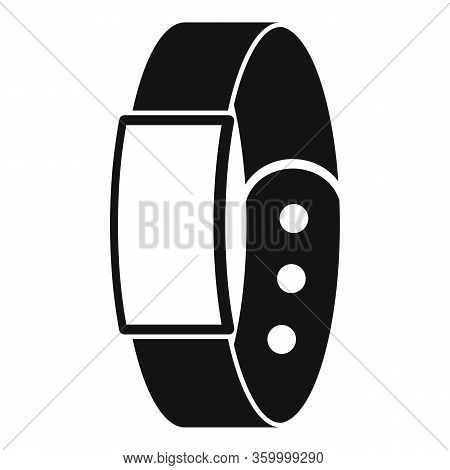 Pedometer Bracelet Icon. Simple Illustration Of Pedometer Bracelet Vector Icon For Web Design Isolat