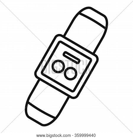 Wearable Smart Bracelet Icon. Outline Wearable Smart Bracelet Vector Icon For Web Design Isolated On