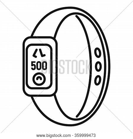 Sport Bracelet Icon. Outline Sport Bracelet Vector Icon For Web Design Isolated On White Background