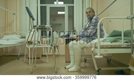 The Patient Is 72 Years Old. Extensive Polyarthritis. Surgery Hip Fracture. Real Russian Hospital Di