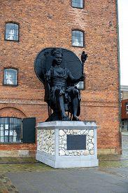 Copenhagen, Denmark - February 7, 2020: I Am Queen Mary Statue By Virgin Islands Artist La Vaughn Be