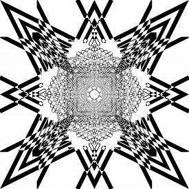 Abstract Arabesque Hexa Developement Hive Perspective Design Black On Transparent Seamless Plaid Bac