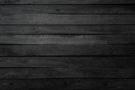 Grunge Dark Wood Plank Texture Background. Vintage Black Wooden