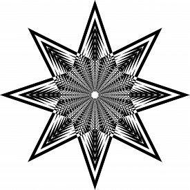 Abstract Arabesque Octogon Developement Stellar Game Perspective Design Black On Transparent Seamles