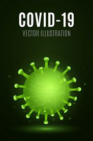 Abstract 3d Virus Microbe Corona. Medical Concept. Pathogen Organism. Vector Illustration. Eps 10