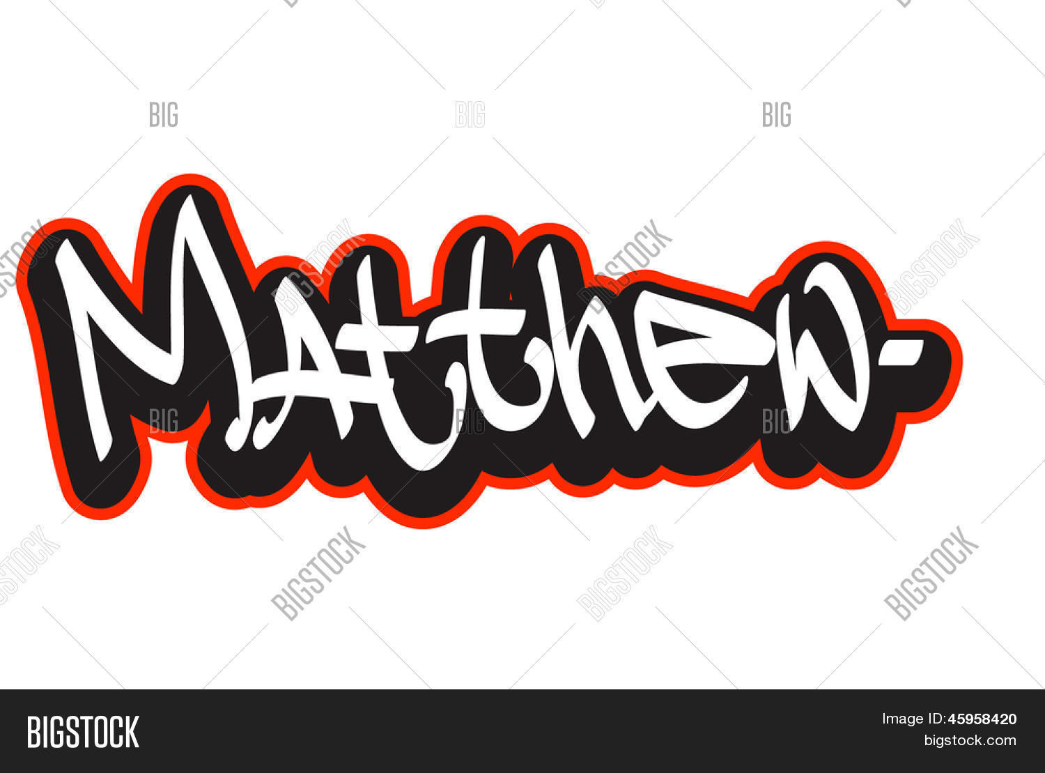 Matthew Graffiti Font Style Name Hip Hop Design Template For T Shirt