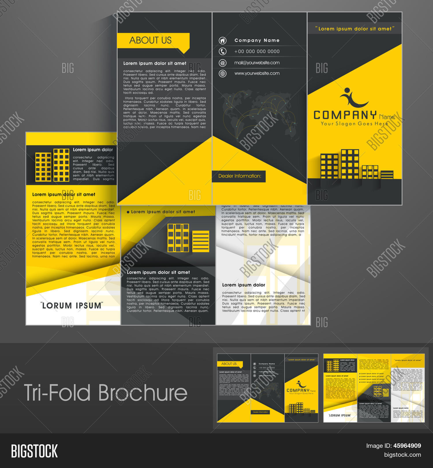 Professional Business Three Fold Vector & Photo | Bigstock