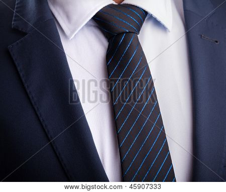 Business suit and tie poster