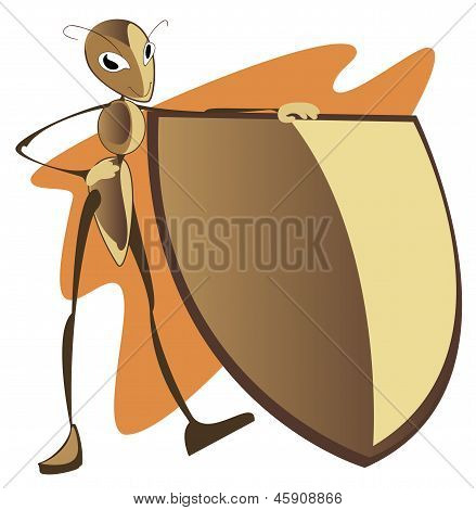 Ant With A Shield