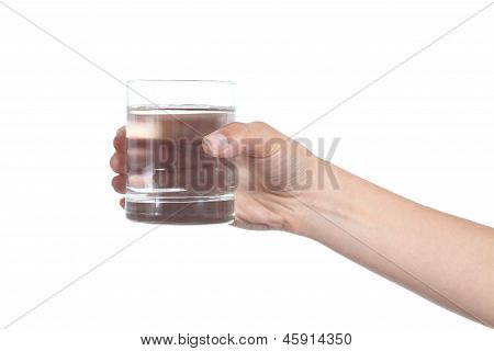 Woman Hand Holding A Glass With Water