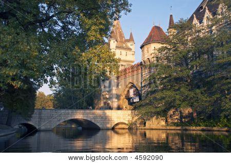 Vajdahunjad Castle In City Park Of Budapest