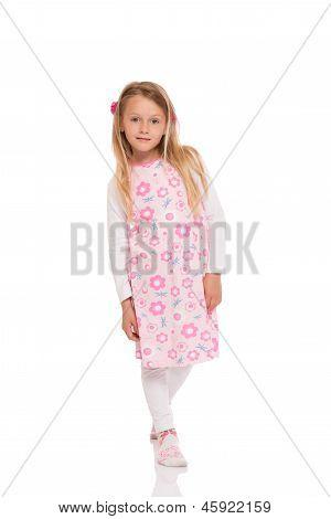 Full Length Portrait Of A Little Girl