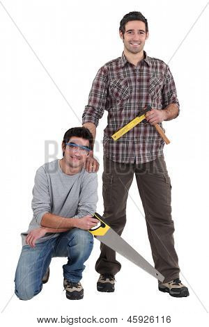 Portrait of a team of tradesmen