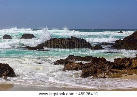 Seascape View Of The Pacific Ocean