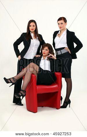Trio of sexy businesswomen