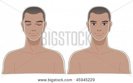 Front Portraits Of Healthy African Decent Man