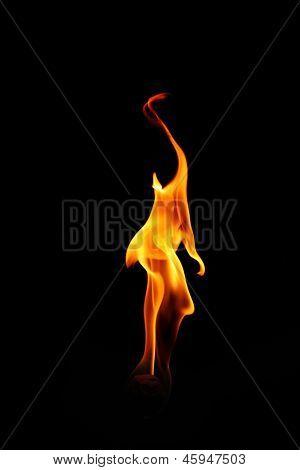 Fireball on a black background