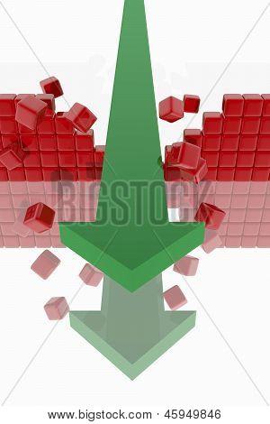 Green Arrow Breaking A Wall