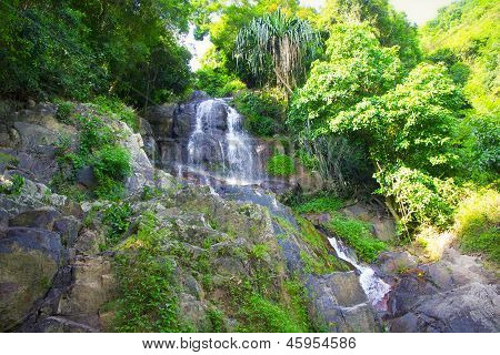 waterfall in paradise