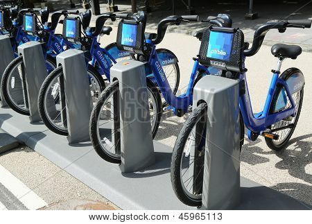 Citi bike station ready for business in New York