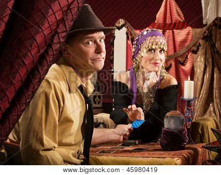 Fortune Teller Takes Credit Card