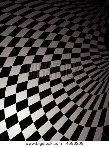 Checker Board Curl Background