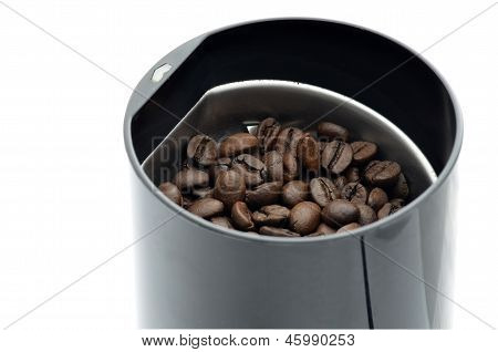 Coffee Grinder With Coffee Grains