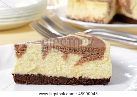 macro chocolate cheesecake