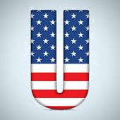 Vector - USA Independence Day Alphabet Letters poster