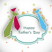 Happy Fathers Day background with colorful neckties. poster
