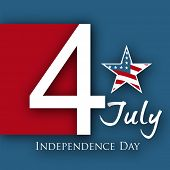 4th of July, American Independence Day background with star. poster