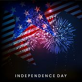 4th of July, American Independence Day celebration background with fire crackers. poster