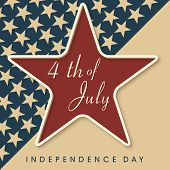 Vintage 4th of July, American Independence Day background with star. poster