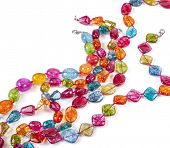 Glass beads, on white poster