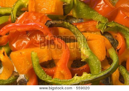 Roasted Peppers And Tomatoes.