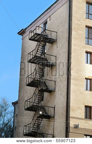 fire Escape On The Building