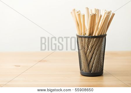 Pencil in pot