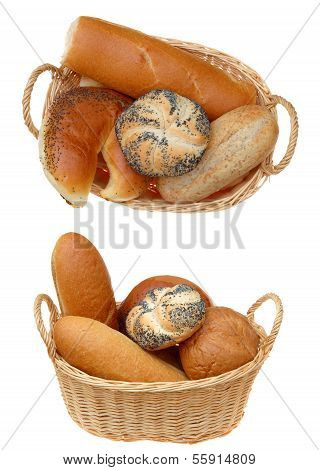 Side And Top View Of Bread Basket