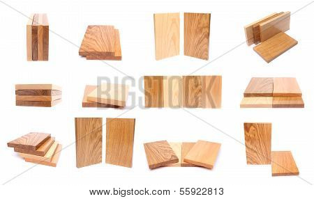 Collage of wooden planks.
