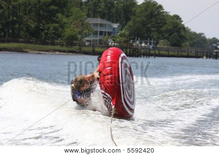 Woman wiping out