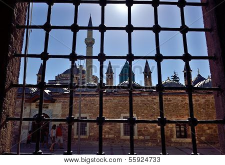 Seen through the window of Mevlana Mosque