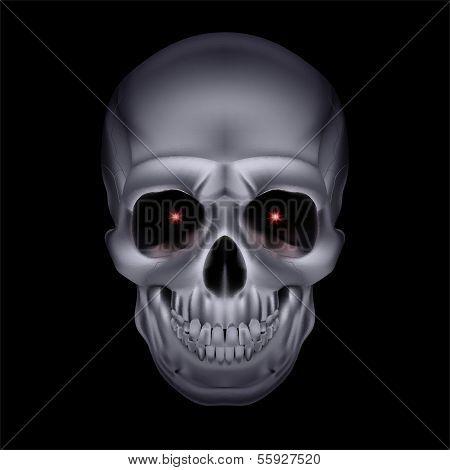Chrome mystic skull.