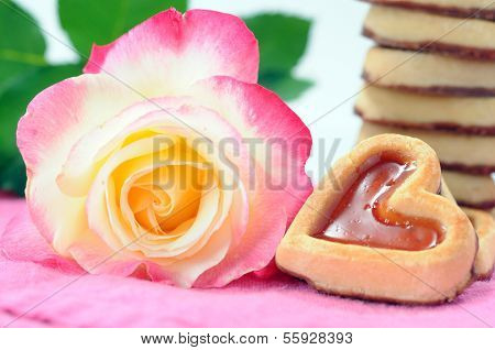Love Cookies And Rose