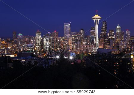 Night Cityscape, Seattle, Washington, USA