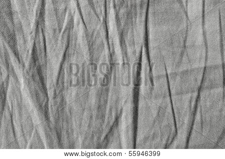 Natural Light Linen Plus Cotton Chinos Texture, Detailed Closeup, Rustic Crumpled Vintage Textured