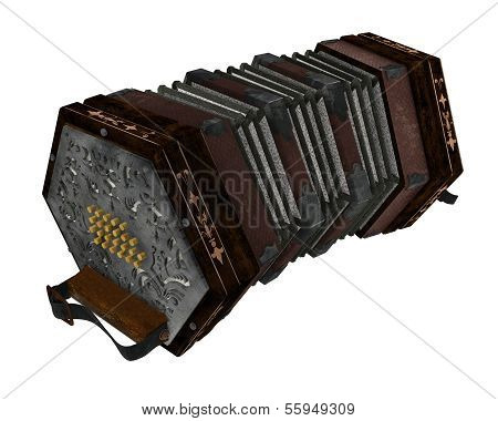 concertina isolated
